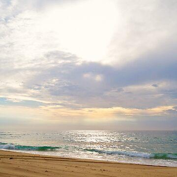 Redhead Beach Colourful Sunrise by Bellamaree