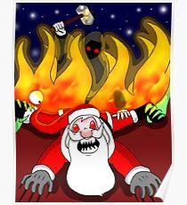 The fall of Santa Poster