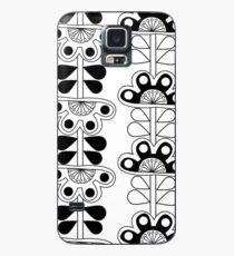 black and white folk art flowers Case/Skin for Samsung Galaxy