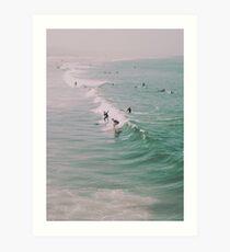 Venice Beach California Surfing Art Print