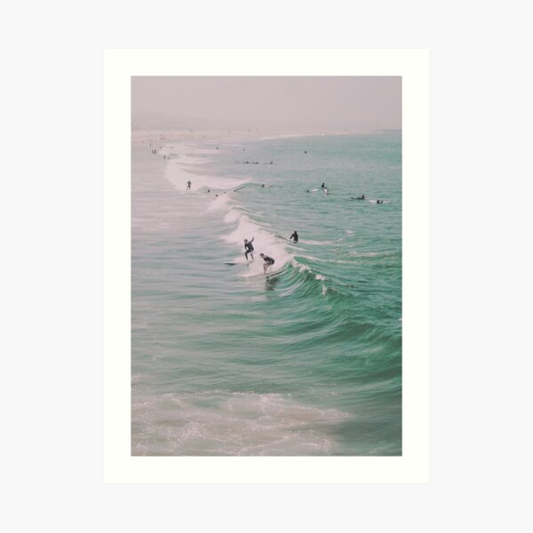 Venice Beach California Surfing Art Print