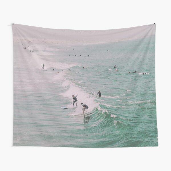 Venice Beach California Surfing Tapestry