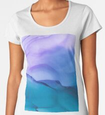 Mysterious Modern Contemporary Design Abstract Painting Women's Premium T-Shirt