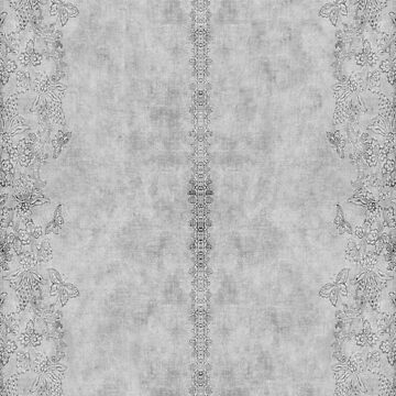 Tonal Butterfly and Floral Border Print by JMarielle
