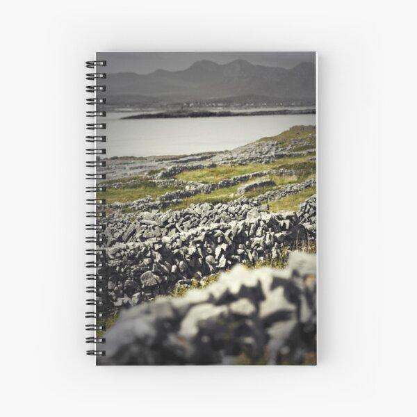 Aran walls, Inishmore, Ireland Spiral Notebook