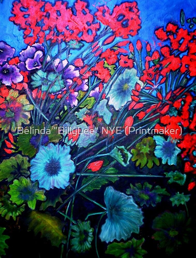 """My Garden - Oil Painting by Belinda """"BillyLee"""" NYE (Printmaker)"""