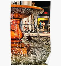 Fountain at Piazza Colonna Poster
