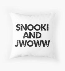 snooki and jwoww Throw Pillow