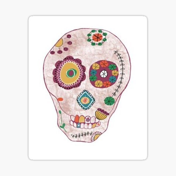 Happy Skull Sticker