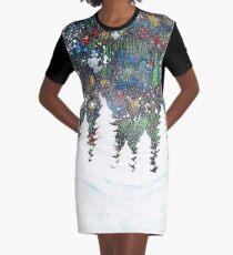 Snowy Night Graphic T-Shirt Dress