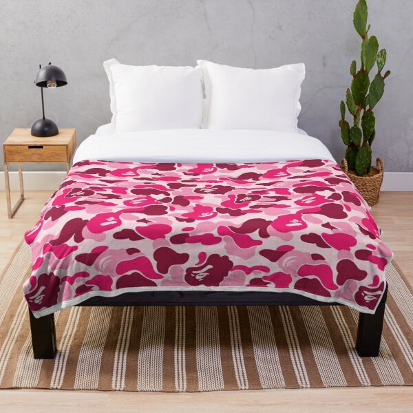 Bape Pink Throw Blanket