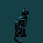 Shiny Black Blue Cat by SpieklyArt