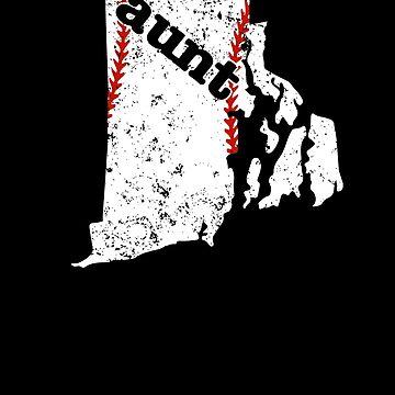 Aunt Baseball T Shirt Rhode Island Fastpitch Softball by shoppzee