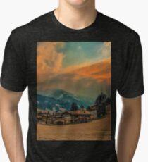 a stunning Austria landscape Tri-blend T-Shirt
