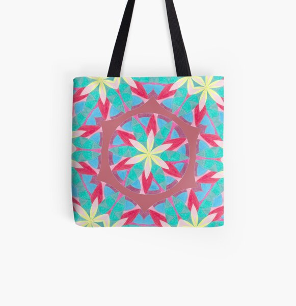 Malachite Winter Vacation Fall Into Winter Collection from Green Bee Mee All Over Print Tote Bag
