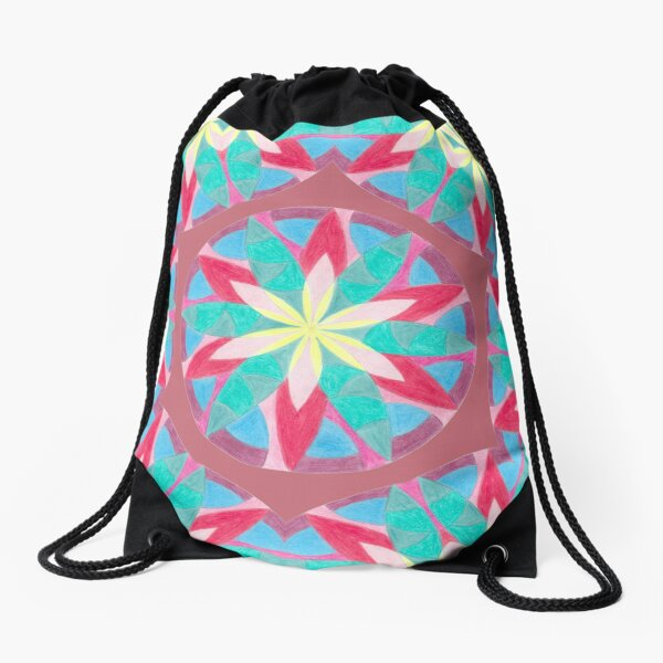 Malachite Winter Vacation Fall Into Winter Collection from Green Bee Mee Drawstring Bag