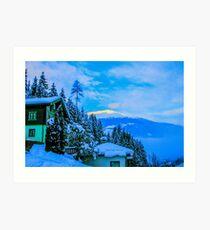 a colourful Austria landscape Art Print