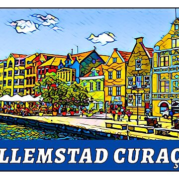 Willemstad Curaçao Caribbean Sea Netherlands Curacao by MyHandmadeSigns