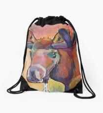 Early Morning Browser Drawstring Bag