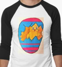 PEEK A BOO EASTER CHICK Men's Baseball ¾ T-Shirt