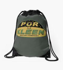 PŪR & KLEEN - water company Drawstring Bag