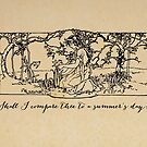 Shakespeare - Sonnet 18 - Shall I Compare Thee by 5pennystudio