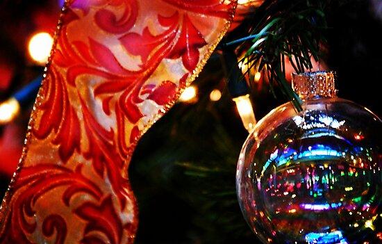 Ornament & Ribbon by Ronald Hannah