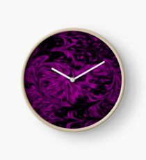 Purple Fire Clock