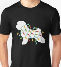 Christmas Lights Bichon Frise T Shirt Gifts for Dog Lovers Unisex T-Shirt