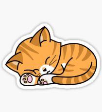 Pegatina Tabby naranja - durmiendo