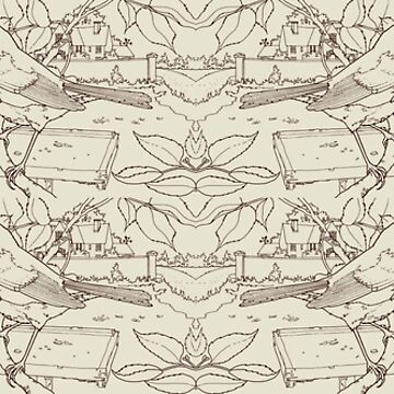 Robin Toile de Jouy Inspired Pale Lime by lewisroland