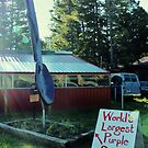 """""""World's Largest Purple Spoon . . . Maybe"""" by Susan Russell"""