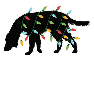 Christmas Lights Setter T-Shirt Cute Gifts for Dog Lovers by davdmark