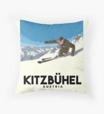 Ski Kitzbühel Austria Throw Pillow