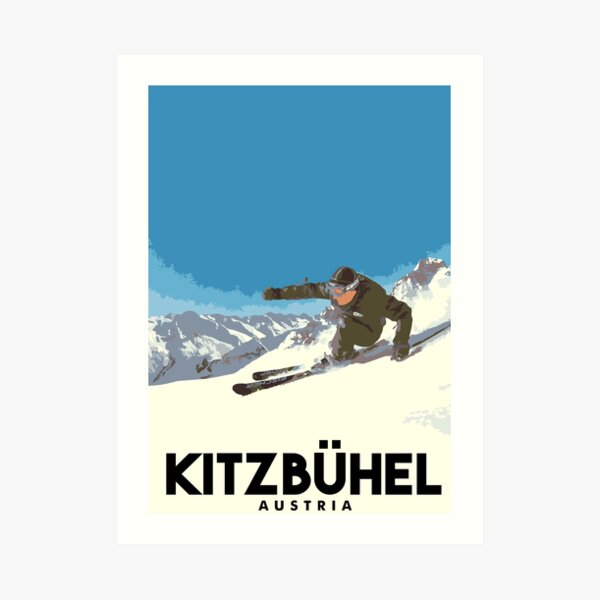 Ski Kitzbühel Austria Art Print