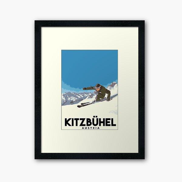 Ski Kitzbühel Austria Framed Art Print