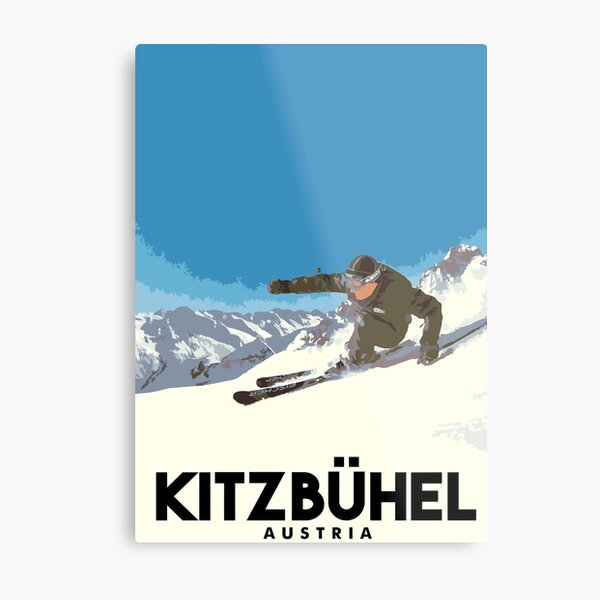 Ski Kitzbühel Austria Metal Print
