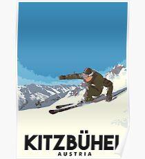 Ski Kitzbühel Austria Poster