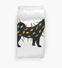Christmas Lights Shiba Inu T-Shirt Cute Gifts for Dog Lovers Duvet Cover