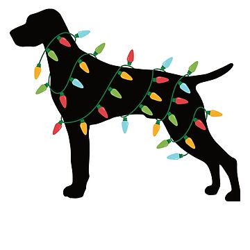 Christmas Lights Vizsla T-Shirt Cute Gifts for Dog Lovers by davdmark