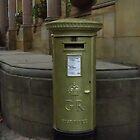 London Olympics Gold Postbox, Sheffield by wiggyofipswich