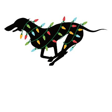 Christmas Lights Whippet T-Shirt Cute Gifts for Dog Lovers by davdmark