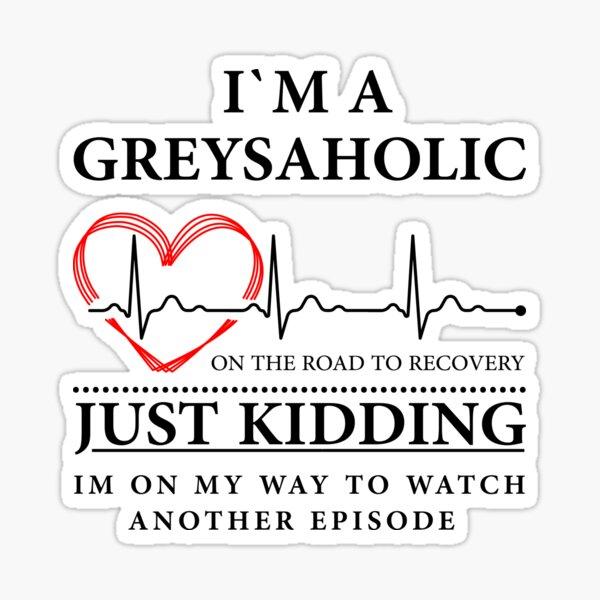 Estoy en camino para ver otro episodio Cita de Grey Pegatina