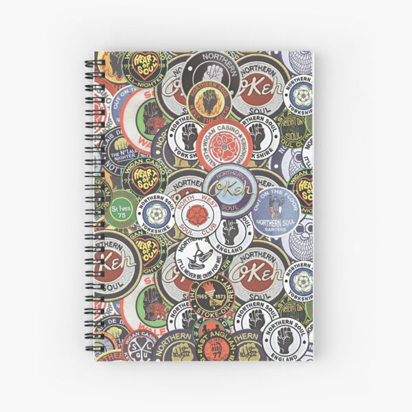 Northern Soul Patches OKEH Wigan Pier Keep The Faith  Spiral Notebook