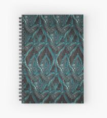 Black and turquise pattern Spiral Notebook
