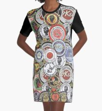 Northern Soul Patches OKEH Wigan Pier Keep The Faith  Graphic T-Shirt Dress