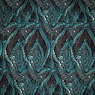 Black and turquise pattern by bywhacky
