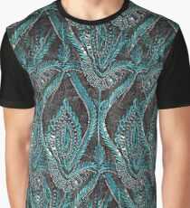 Black and turquise pattern Graphic T-Shirt