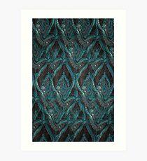 Black and turquise pattern Art Print