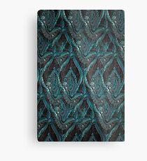 Black and turquise pattern Metal Print